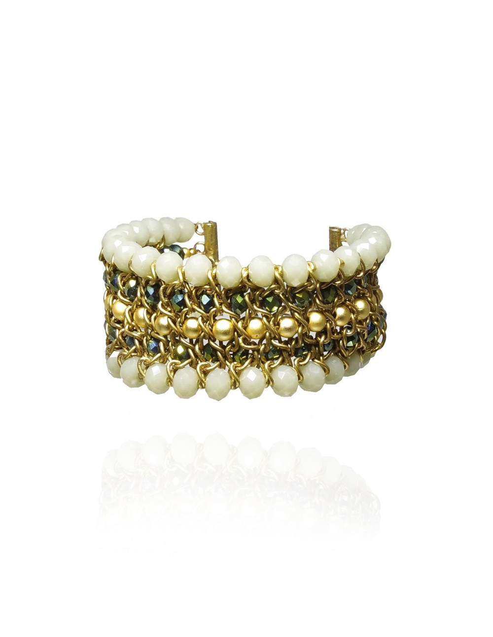 Bracelet manchette perlée Yendy