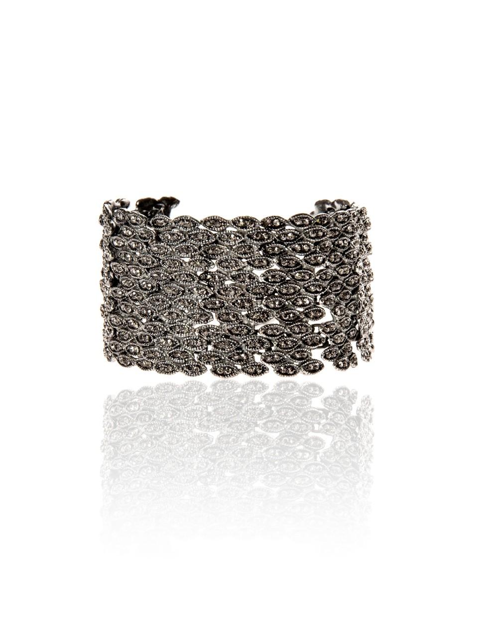 Bracelet manchette Plumetis