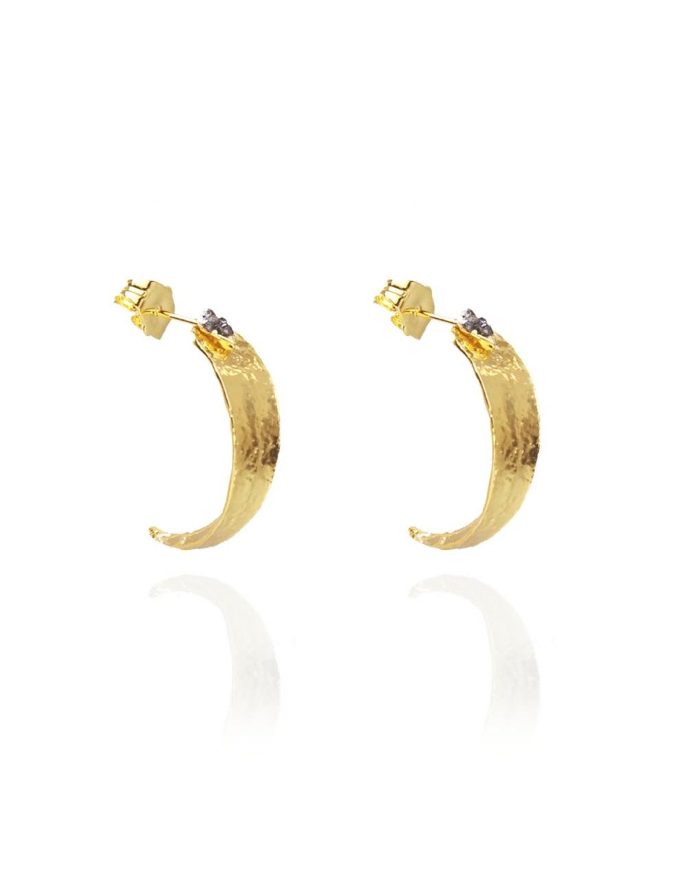 Boucles d'oreilles Eucalyptus doré