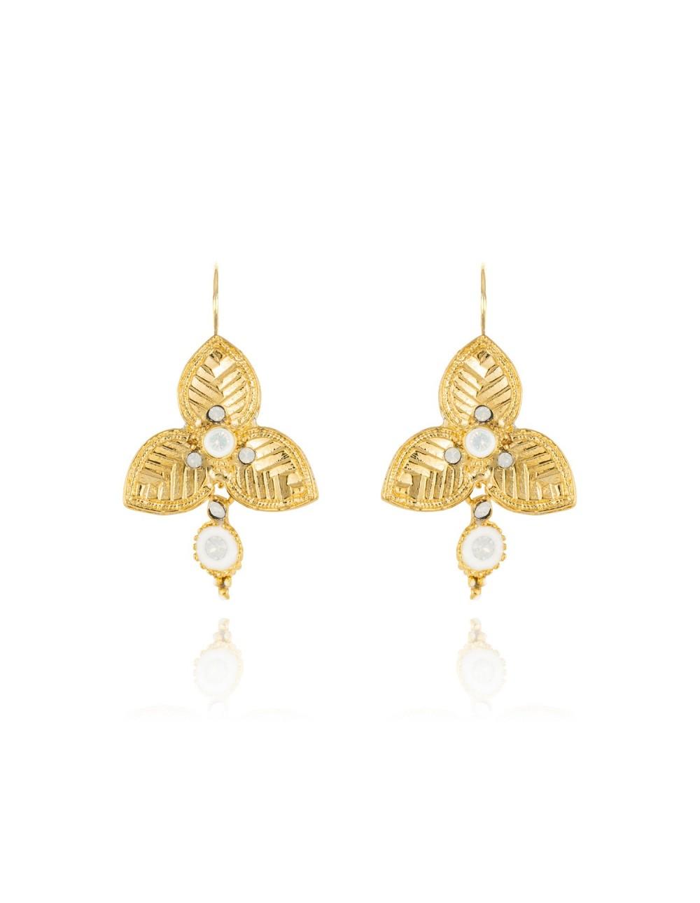 Boucles d'oreilles Leyenda opal