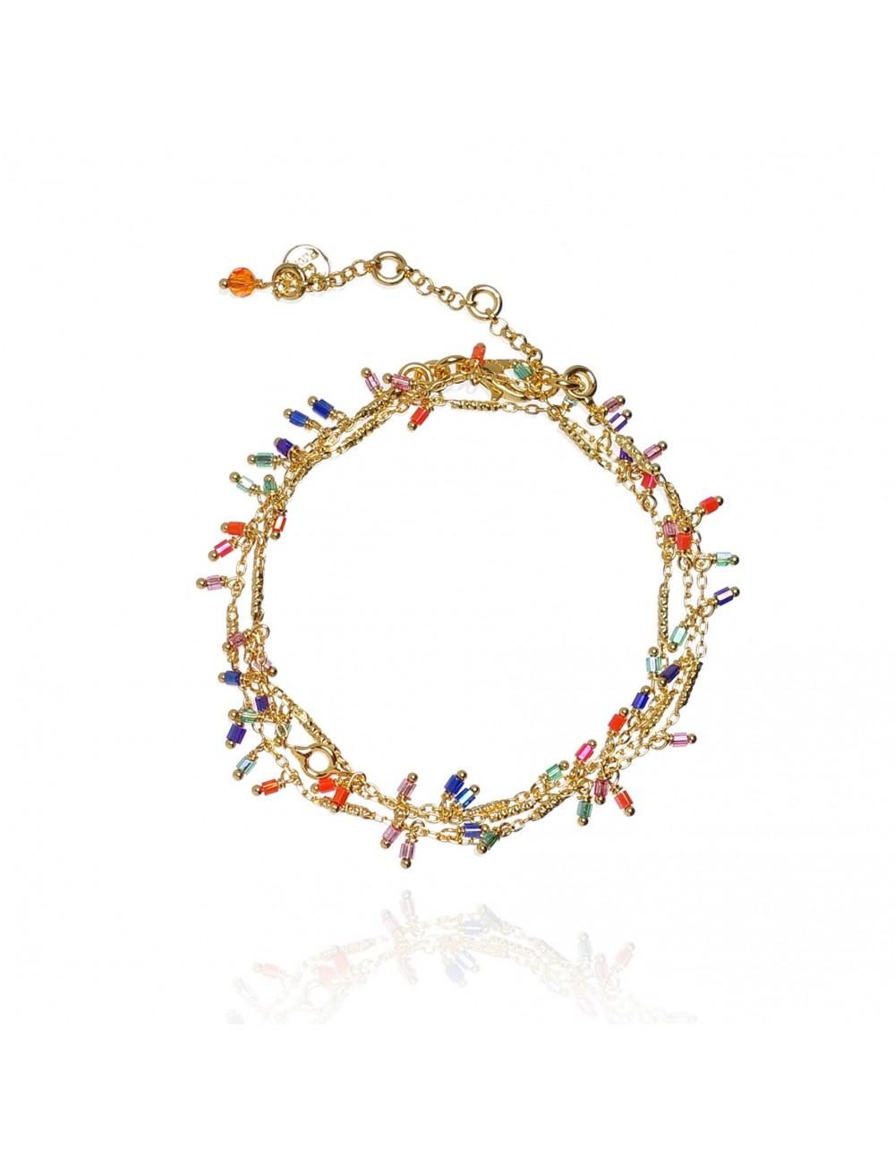 Collier/Bracelet Jaïna Color