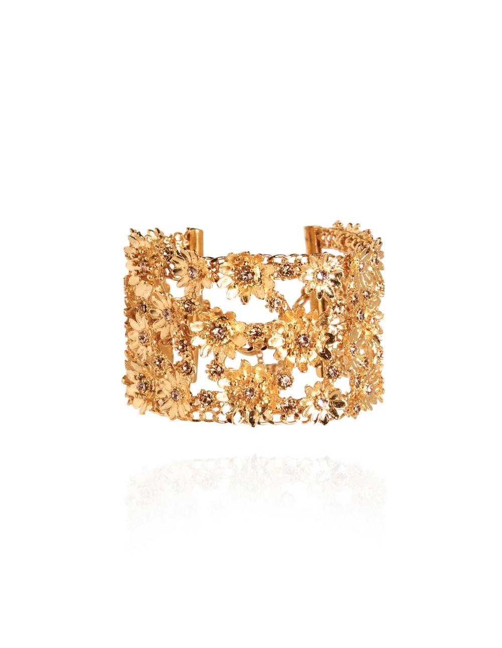 Bracelet manchette Bloem Doré
