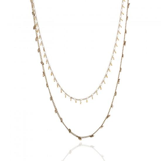 Plumetis Low-hanging necklace